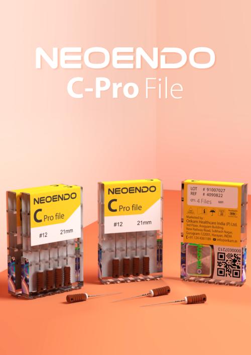 Neoendo C Pro Hand File- Use in Twist & Pulling Motion | Orikam