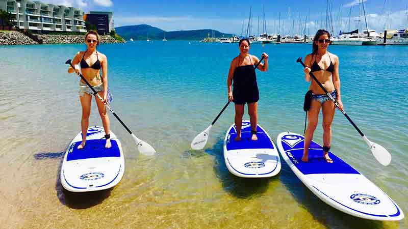 stand-up paddle board hire in Airlie beach