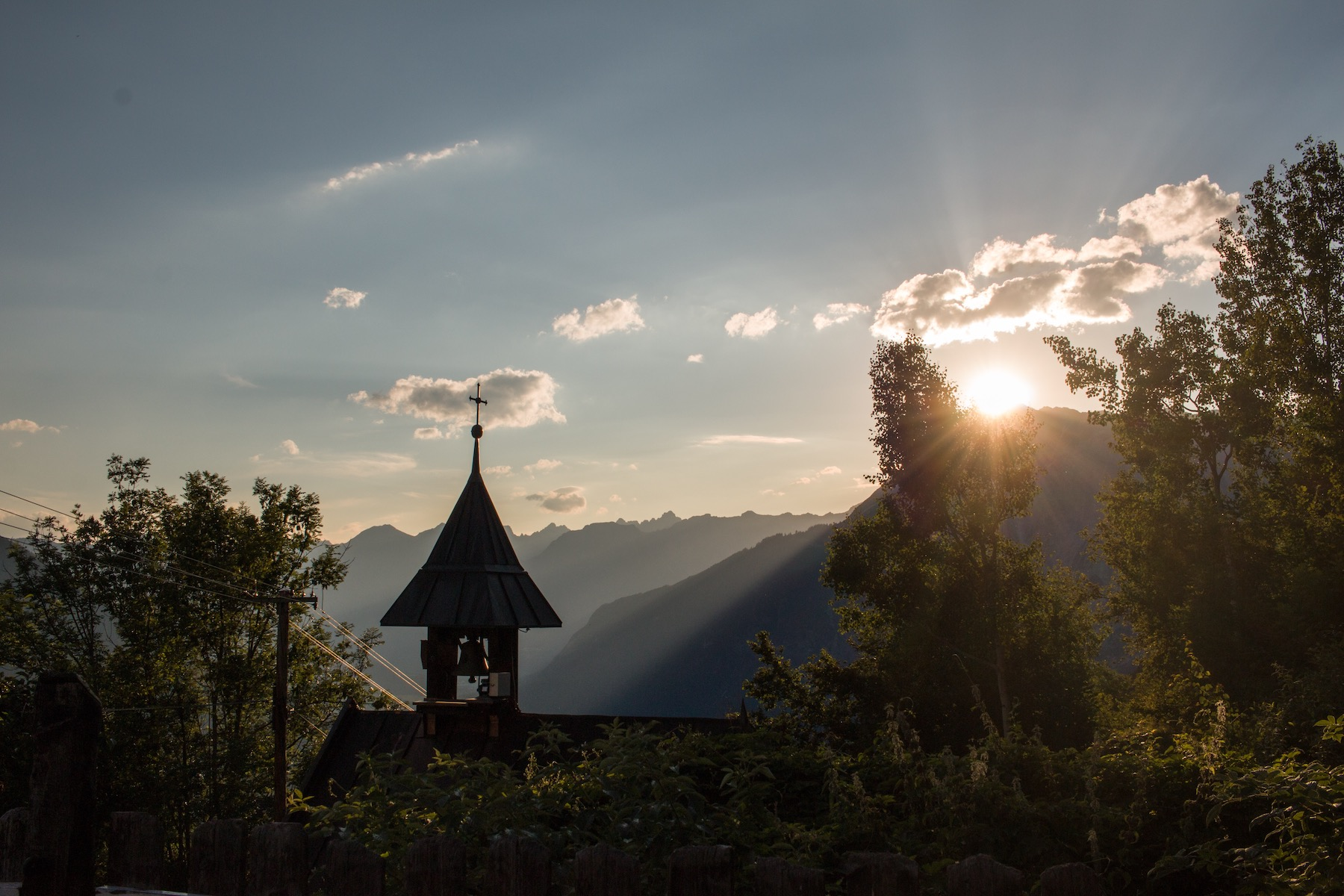 Sunset Over Tschirgant John Haines/ Pistyll Productions