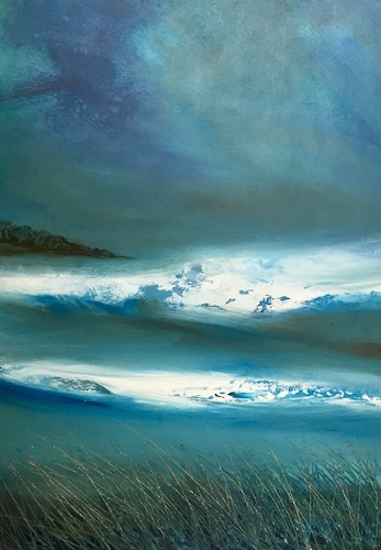 SOLD Atlantic Breakers | Acrylic on Panel | Size: 23 x 17 ins | €1750