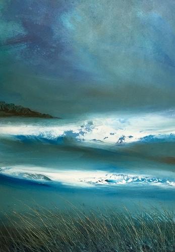 SOLD Atlantic Breakers | Acrylic on Panel | Size: 23 x 17 ins | €1750