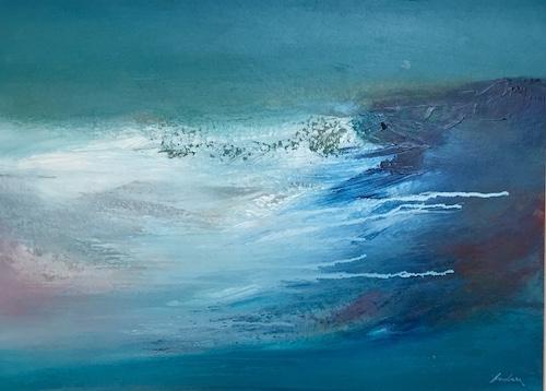 SOLD Atlantic Sea Surge   Acrylic on Panel   Sixe: 18 x 24ins   €1900