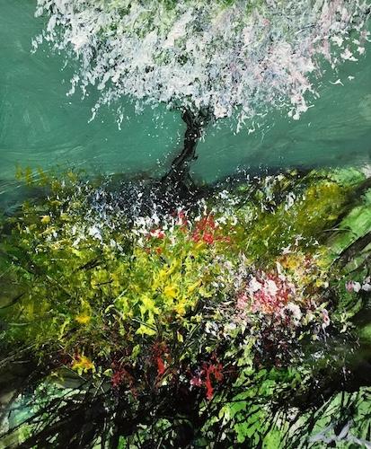 Burst of Spring   Acrylic on Panel   Size: 10 x 9 Ins   €550