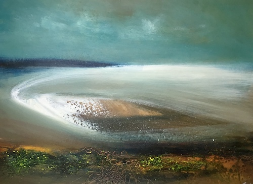 Diamond Sea | Acrylic on Panel | Size: 24 x 18 ins | €1950