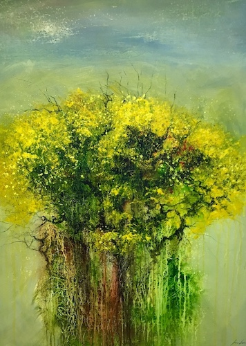 Gorse in Bloom | Acrylic on Canvas | Size: 40 x 30 ins | €3500