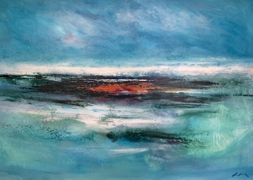 SOLD Summer Breakers   Acrylic on Board   Size: 31 x 43ins   €3750