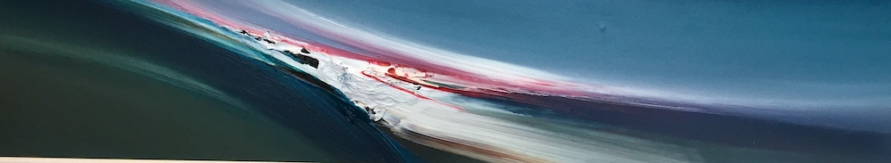 SOLD Surging Wave | Acrylic on panel | Size: 8 x 47ins | €1750