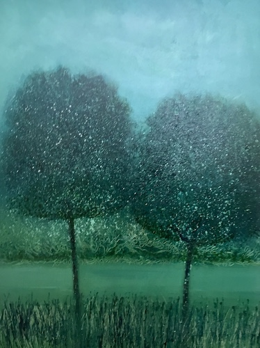 SOLD Town Park Trees Tralee | Acrylic on Panel | Size: 15 x 20 ins | €1500