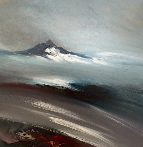 SOLD Wild Banna at the Black Rock   Acrylic on Panel   Size: 18 x 18 ins   €1500