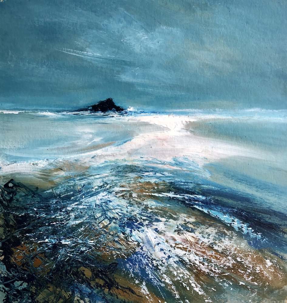 Banna Shore with Black Rock | 37 x 35cms | 14 x 13.5 ins | €950