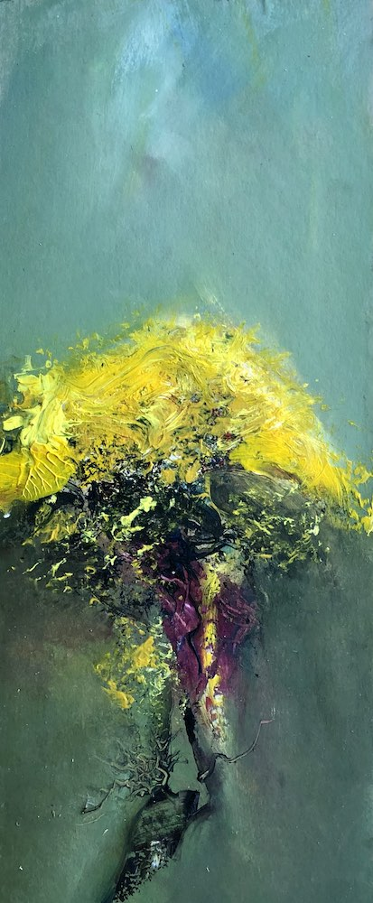SOLD | Flowering Gorse | 49 x 22 cms | 19 x 9 inches | €850