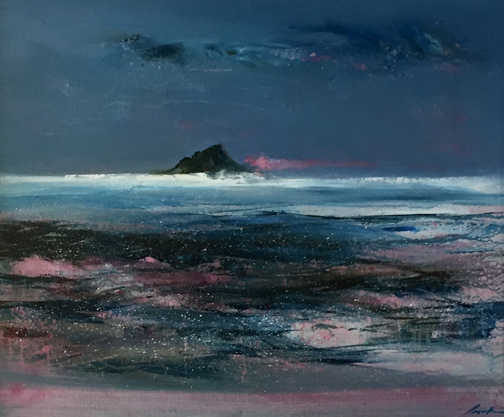 SOLD | Skellig Micheal Sunset | 48 x 58 cm | 19 x 23 ins | €2200