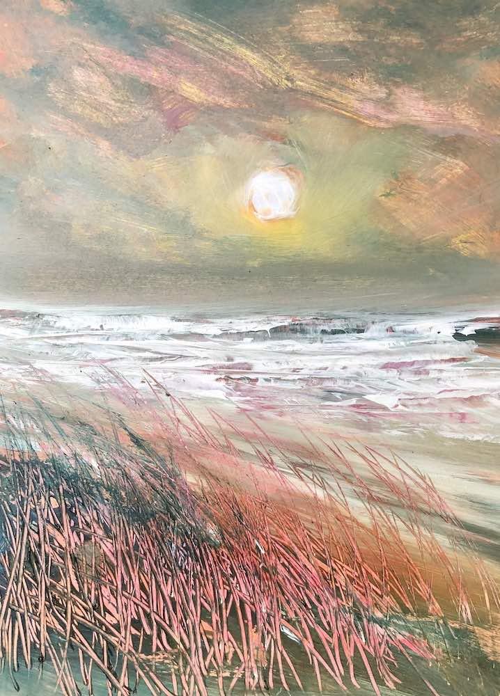 SOLD | Atlantic Sunset | 15 x 11 ins | 38 x 28 cms | €850