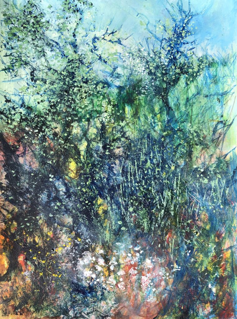 Blackthorn Hedgerow | 16 x 12 ins | 40 x 30 cms | €1100