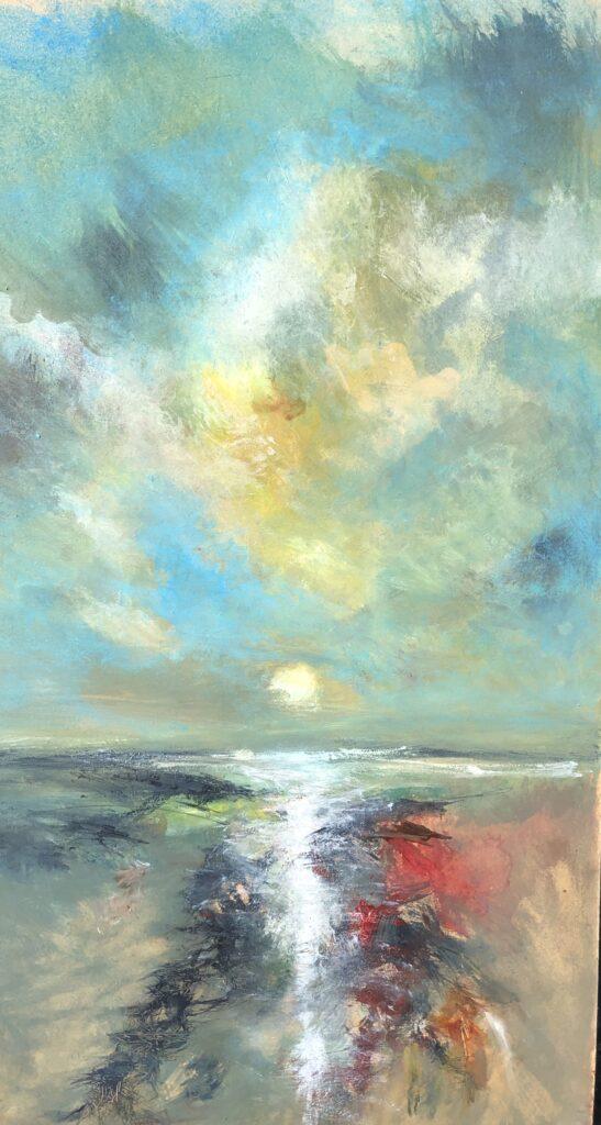 Estuary Sunset | 24 x 14 ins | 60 x 35 cms | €1900
