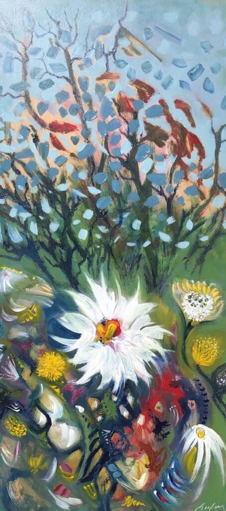 Wild Garden | 31 x 15 ins | 80 x 38 cms | €2200