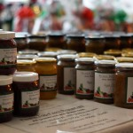 Home made jams from fresh fruit grown on Peaks Top Farm