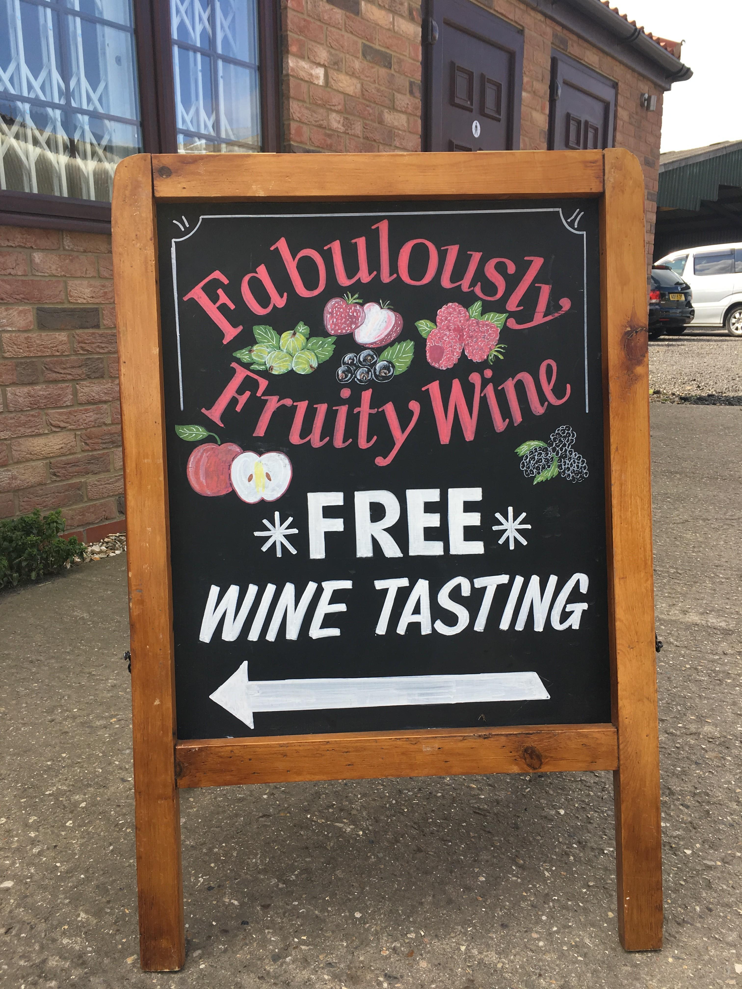 Free wine tasting every Saturday