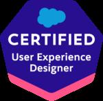 Salesforce Certified User Experience Designer Badge