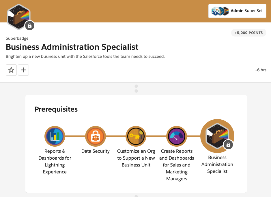 Business Administration Specialist Superbadge