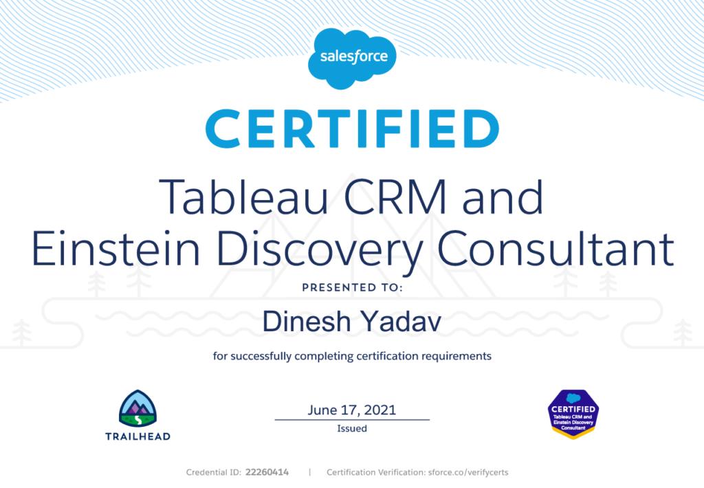 Tableau CRM Certification