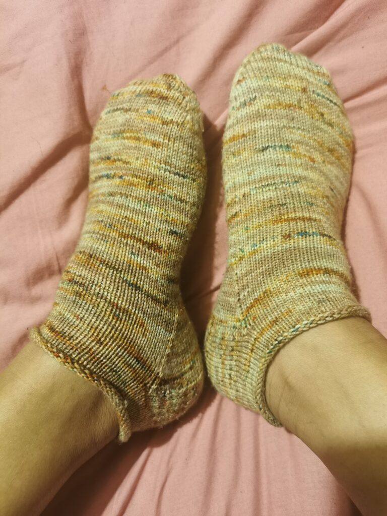 finished hand knit socks