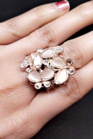 Beige Adjustable ring