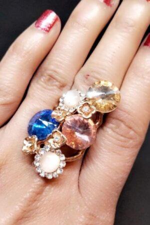 Blue rose ring