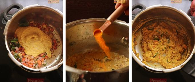 add masala and turmeric -peas potato masala