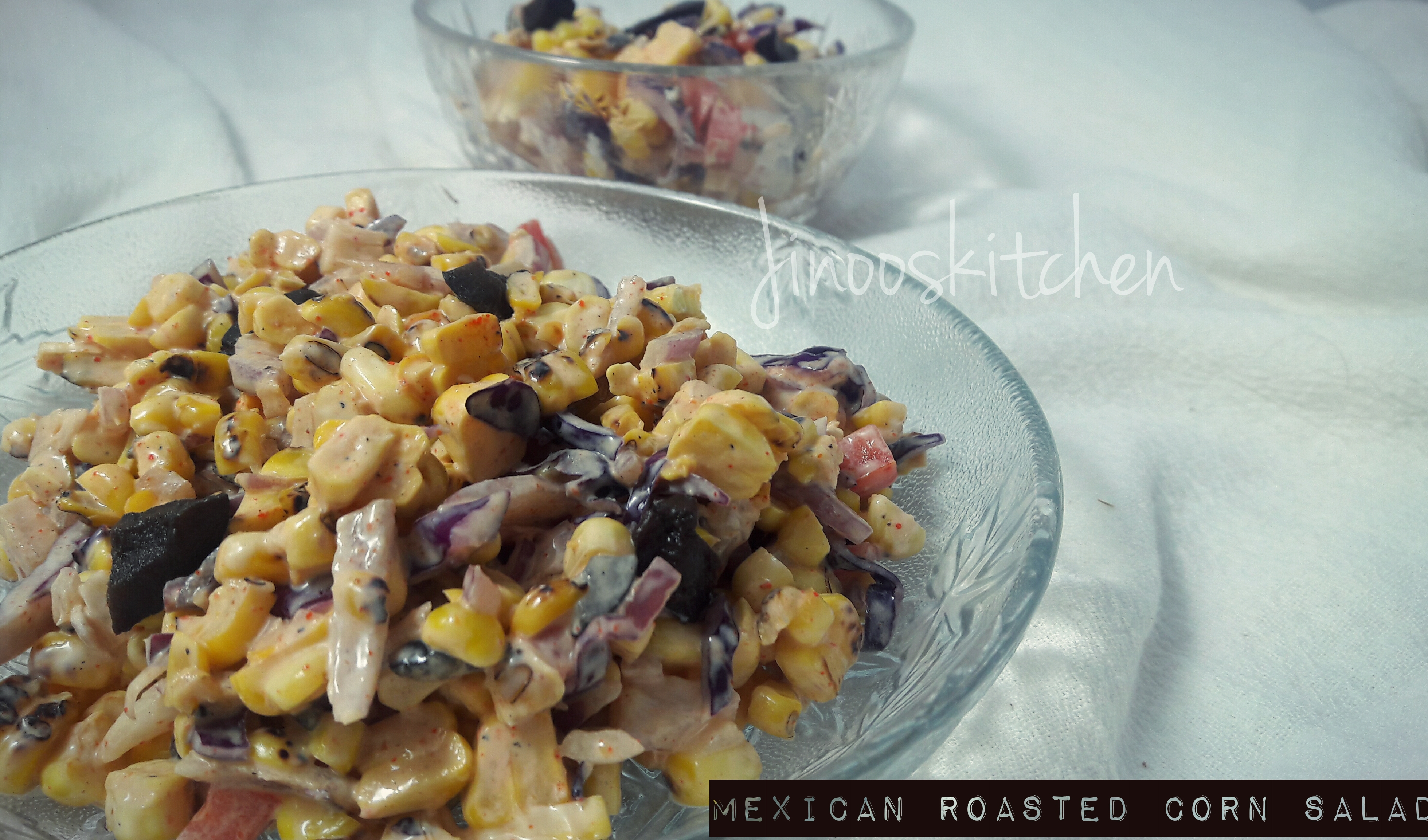 Mexican Roasted Corn & Olive Salad