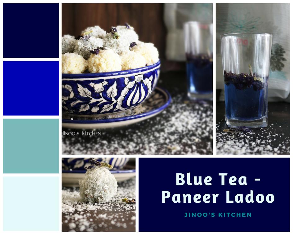 Blue Tea Ladoo -Paneer ladoo