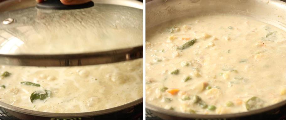 White Vegetable Kurma recipe