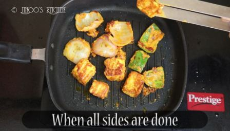 Paneer Tikka recipe on tawa