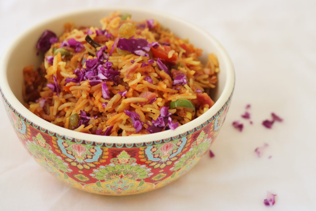 Red Cabbage Fried Rice recipe