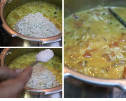 Tomato Biryani with coconut milk   Thakkali biryani