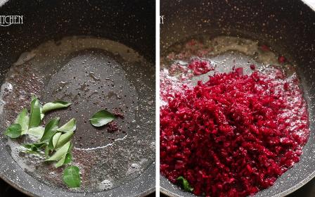 Beetroot Thoran Recipe