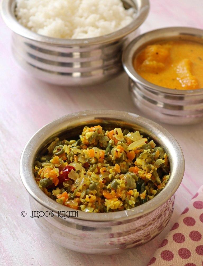 Beans carrot poriyal recipe