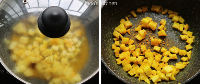 Pineapple madura curry without curd