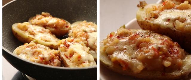 Stuffed potato cheese recipe