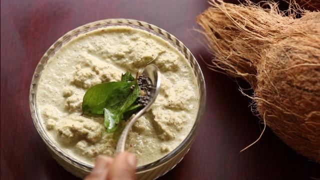 green coconut chutney recipe   mint coconut chutney recipe