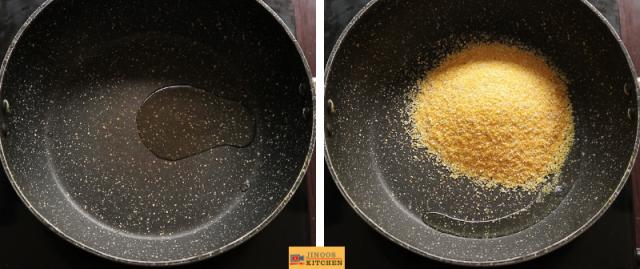 broken corn rava upma recipe