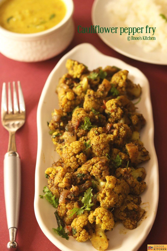 cauliflower pepper fry recipe