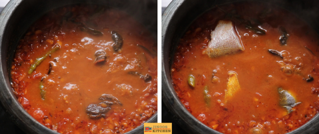 Fish curry Kerala style with coconut and kudampuli