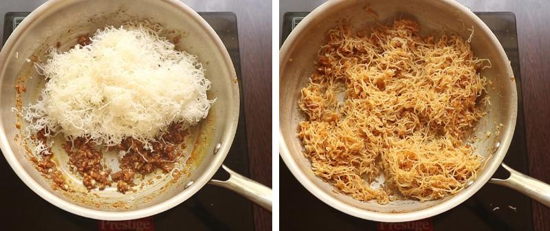 Sweet Idiyappam Recipe with jaggery and coconut