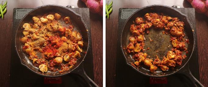 add masala - mushroom egg masala