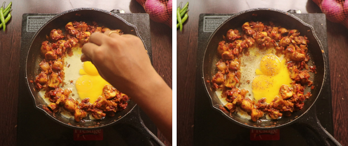 add salt and pepper - mushroom egg masala