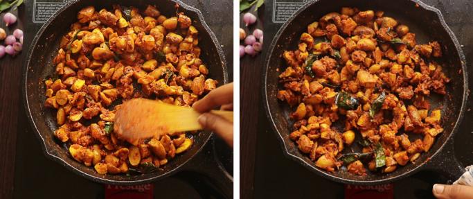 fry for a min _ chakkakuru mezhukkupuratti