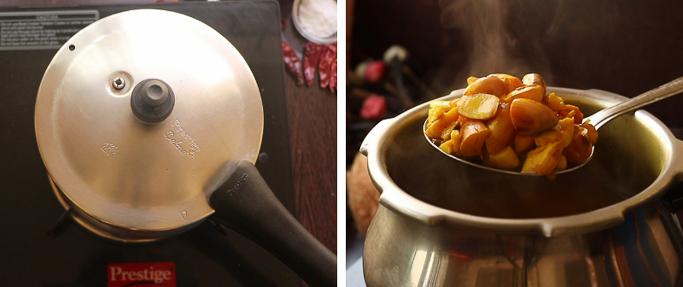pressure cook_ chakkakuru mezhukkupuratti