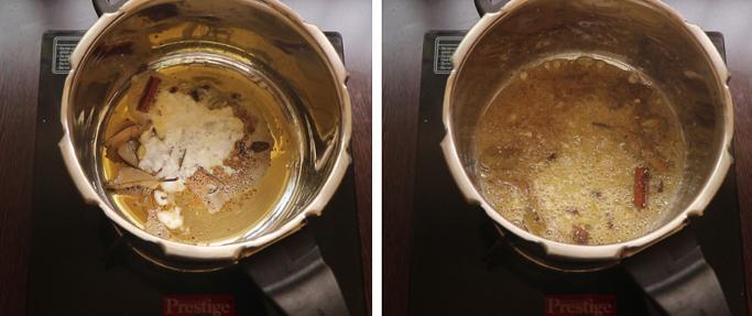 add the curd . pressure cooker biryani recipe