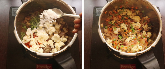season with salt. pressure cooker biryani recipe